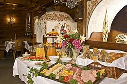 Breakfast buffet with wide choice