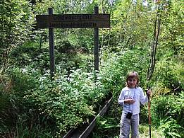 little girl at a former gold washing site