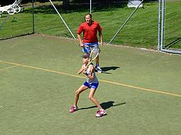 playing tennis for young and old
